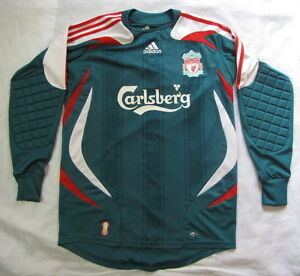 The Reds FC LIVERPOOL GOALKEEPER shirt jersey by ADIDAS 2007-2008 adult SIZE S