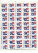 SPIRIT OF 76 FOUNDATION, LICK APATHY POSTER STAMPS, FULL SHEET