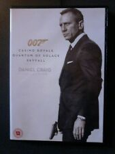 CASINO ROYALE / QUANTUM OF SOLACE / SKYFALL - UK DVD - Daniel Craig Collection