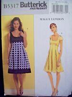 Butterick Pattern B5317 Maggy London Empire Waist Dress Sizes 8-14 UC/FF NOS