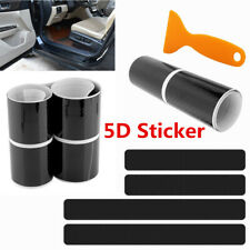 Car Gloss 5D Carbon Fiber Scuff Plate Door Sill Cover Panel Step Protector Guard