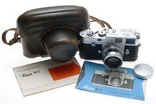 LEICA M2 BEAUTIFUL SUMMICRON 1:2 f=5cm LENS 2/50mm CASE MANUAL CAP CLEAN CAMERA