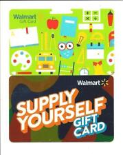 Walmart Gift Card Lot of 2 Different 2018 Back to School No $ Value Collectible