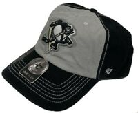 Pittsburgh Penguins hat cap new nwt NHL '47 Brand Adjustable black gray logo