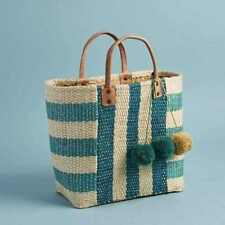 MAR Y SOL Woven Collins Beach Tote Bag New Popsugar Summer NEW