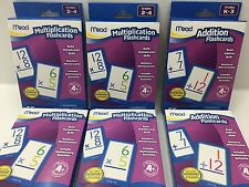 Mead Flashcards LOT of 6 Addition and Multiplication for Elementary School #B6