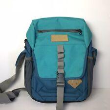 ll bean canvas messenger bag Backpack Blue Nylon School Work Travel Unisex Euc