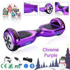 "6.5"" Chrome Purple Smart Self Balance Electric Scooter Skateboard Bluetooth Bag"