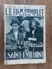 Magazine FILM COMPLET LE MARQUIS DE SAINT-EVREMONT ronald COLMAN & OWEN 1937 *