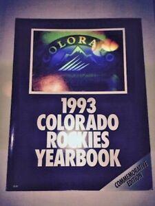 COLORADO ROCKIES MLB NL 1993 Inaugural Season Yearbook - Commemorative Edition