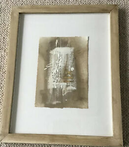 Scottish Artist Jenny Smith  Framed Mixed Media On Paper - Fragment