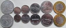Comoros set of 6 coins 1964-2013 (5+10+25+50+100+250 francs) UNC 1 Bimetal