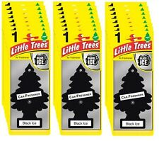 24x árbol Mágico Árbol Pequeño Negro Hielo Aroma Fragancia Ambientador Coche Camioneta Packs