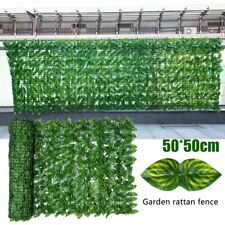 New listing Artificial Fuax Ivy Leaf Roll Hedging Privacy Screening Garden Wall Fence Gate