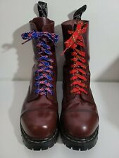 Gripfast 10 eye UK 10 US 11 steel toe boots Oxblood Solovair Dr Martens Doc