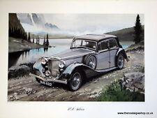 MG  WA. Saloon. Vintage Car Print. MG Print.
