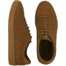 BNIB Fred Perry Umpire Suede Leather Trainers Ginger UK 8 RRP £75 B8270 Shoes