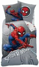 Spiderman Wende Bettwäsche Set 100% Baumwolle 135x200cm 80x80cm Superhero grau