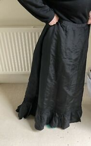Unusual Victorian Mourning Skirt