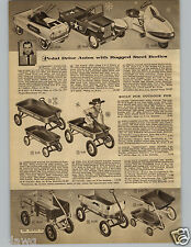 1956 PAPER AD Pedal Car Dragnet Coaster Wagon Greyhound Space Cruiser Jeep Force