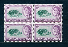 CAYMAN ISLANDS 1962 DEFINITIVES SG171 4d BLOCK OF 4 MNH