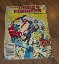 TRANSFORMERS DIGEST COMIC #1 BY MARVEL IN VG+ 1987