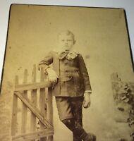 Rare Antique Southern Victorian American Young Boy Atlanta Georgia Cabinet Photo