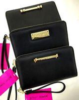 "Betsey Johnson Plain Black Oversized Wallet Large 8x5"" Wristlet Clutch"