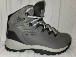 Columbia Newton Ridge + Women's Grey Leather WP Outdoor Hiking Boots Size US 6