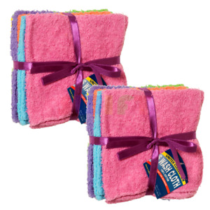 12 Pack Home Collection 100% Cotton Washcloth 11x11 Inches Hotel Cleaning Hand C