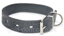 Luxury Leather  Dog Collar    .Made in Europe!  VG/7