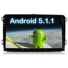 """9"""" Android VW PASSAT GPS sat nav for TIGUAN TOURAN Sharan CADDY GOLF 5 6 T5 UK"""