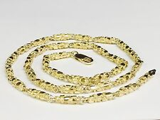 "10kt solid gold HEAVY handmade NUGGET link chain/necklace 18"" 35 grams 4.5 MM"