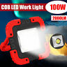 100W 2000LM USB Solar LED Work Light Rechargeable Emergency Flood Lamp W/