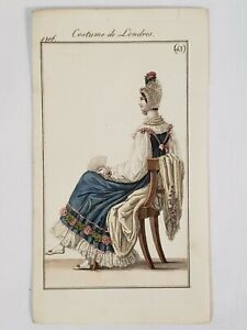 Le Journal des Dames et des Modes 1816 Costume Parisien Fashion Plate No. #43