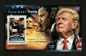 Togo 2016 - 45th President Donald Trump, Obama, America - Souvenir Sheet - MNH