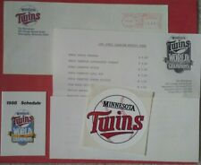 1988 World Champion Minnesota TWINS Vintage Baseball ENVELOPE LOT decal schedule