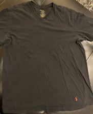 Polo Ralph Lauren Mems V Neck T Shirt XL Slim Fit 100% Cotton Black