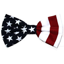 New formal men's pre tied Bow tie July 4th american flag red white blue wedding