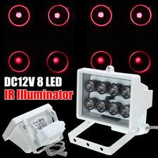 8 LED Nachtsicht IR Infrarot BELEUCHTUNG Scheinwerfer 12V für Sicherheit Kamera