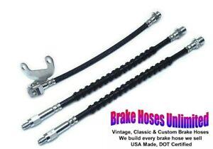 BRAKE HOSE SET Mercury Cougar 1974 1975 1976 1977 1978 1979