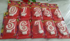120pcs Number Birthday Candles Bulk Party Job Lot Glittered Fun Shape wholesale