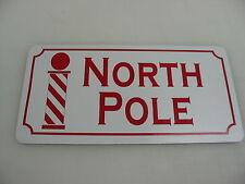 NORTH POLE Metal Tin Sign for Farm Barn Home Christmas Decoration