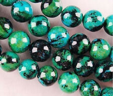 6mm Azurite Chrysocolla Round Gemstone Loose Bead 15''