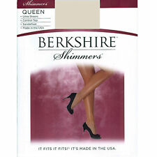 Berkshire Queen Ultra Sheer Control Top Silver Shimmers Pantyhose Size 5X-6X