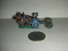 """Vintage Lead Miniature Field Soldiers - 3 Soldiers/Wagon/Cannon - 1""""Tall - (#15)"""