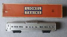 Lionel O Scale No. 2532 Illuminated Astra-Dome Car In Original Box ~ TSK