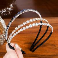 Ladies Crystal Diamond Headband Hairband Wedding Hair Hoop Band Accessories