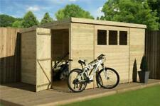 12x7 Garden Shed Tongue and Groove Pent Shed Tanalised 3 Window Pressure Treated