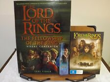 J.R.R. TOLKIEN  THE LORD OF THE RINGS VISUAL COMPANION TRILOGY SET + THE 3 MOVIE